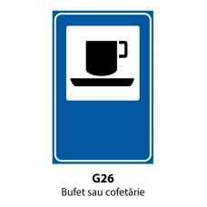 Bufet sau cofetărie — Indicator rutier