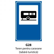 Teren pentru caravane (tabără turistică) — Indicator rutier