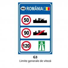 Limite generale de viteză — Indicator rutier