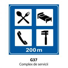 Complex de servicii — Indicator rutier