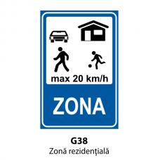 Zonă rezidenţială — Indicator rutier