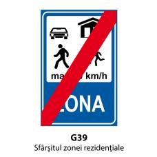 Sfârşitul zonei rezidenţiale — Indicator rutier