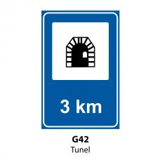 Tunel — Indicator rutier
