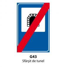 Sfârşit de tunel — Indicator rutier