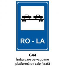 Îmbarcare pe vagoane platformă de cale ferată — Indicator rutier