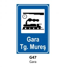 Gară — Indicator rutier