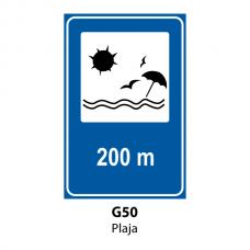 Plajă — Indicator rutier