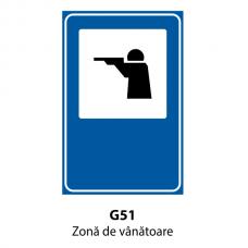 Zonă de vânătoare — Indicator rutier