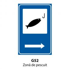 Zonă de pescuit — Indicator rutier