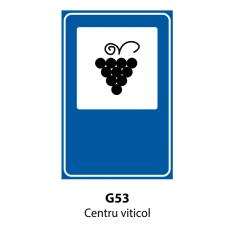 Centru viticol — Indicator rutier