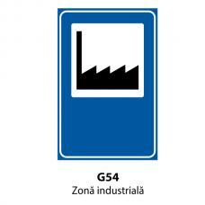 Zonă industrială — Indicator rutier