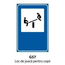 Loc de joacă pentru copii — Indicator rutier