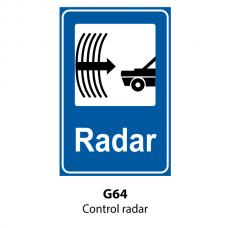 Control radar — Indicator rutier
