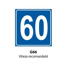 Viteza recomandată — Indicator rutier
