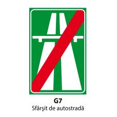 Sfârşit de autostradă — Indicator rutier