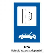 Refugiu rezervat depanării — Indicator rutier