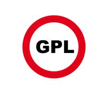 Accesul interzis GPL — Indicator rutier