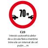 Interzis autovehiculelor de a circula fara a mentine intre ele un interval de cel putin ... m