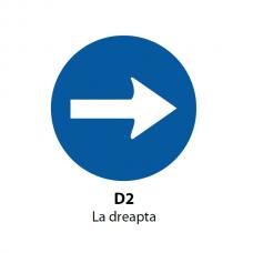 La dreapta — Indicator rutier (D2)