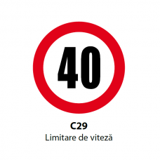 Limitare de viteză (5, 10, 15, 20, 30, 40, 50km) — Indicator rutier