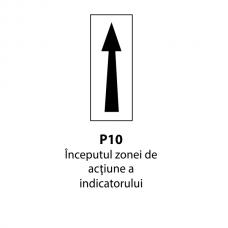 Începutul zonei de acţiune a indicatorului — Indicator rutier