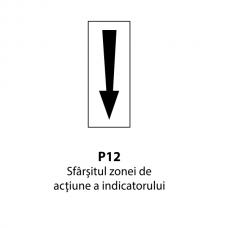Sfârşitul zonei de acţiune a indicatorului — Indicator rutier