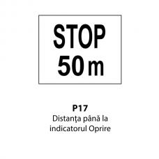 """Distanța până la indicatorul """"Oprire"""" — Indicator rutier"""