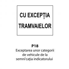 Exceptarea unor categorii de vehicule de la semnificaţia indicatorului — Indicator rutier
