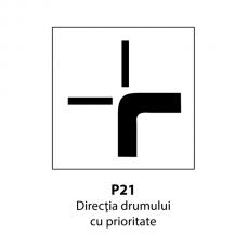 Direcţia drumului cu prioritate — Indicator rutier