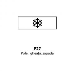 Polei, gheaţă, zăpadă — Indicator rutier