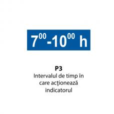 Intervalul de timp în care acţionează indicatorul — Indicator rutier