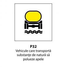Vehicule care transportă substanţe de natură să polueze apele — Indicator rutier
