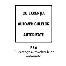 Cu excepţia autovehiculelor autorizate — Indicator rutier