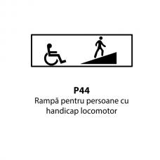 Rampă pentru persoane cu handicap locomotor — Indicator rutier