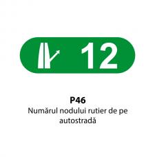 Numărul nodului rutier de pe autostradă — Indicator rutier