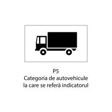 Categoria de autovehicule la care se referă indicatorul — Indicator rutier