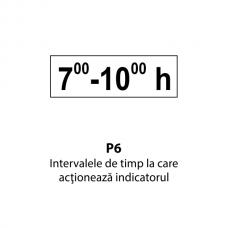 Intervalele de timp la care acţionează indicatorul — Indicator rutier