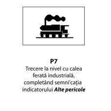 Trecere la nivel cu calea ferată industrială — Indicator rutier
