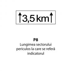 Lungimea sectorului periculos la care se referă indicatorul — Indicator rutier