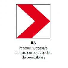 Panouri succesive pentru curbe deosebit de periculoase — Indicator rutier