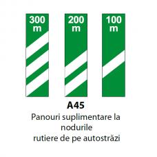 Panouri suplimentare la nodurile rutiere de pe autostrăzi — Indicator rutier
