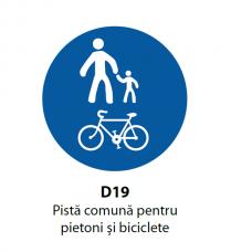 Pistă comună pentru pietoni şi biciclete — Indicator rutier