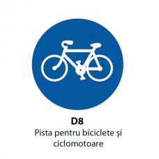 Pista pentru biciclete şi ciclomotoare — Indicator rutier