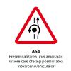 Presemnalizarea unei amenajari rutiere care ofera si posibilitatea intoarcerii vehiculelor
