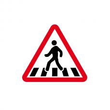 Presemnalizare trecere pietoni — Indicator rutier