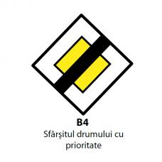 Sfârșitul drumului cu prioritate — Indicator rutier