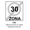 Sfarsitul zonei cu viteza limitata la 30 km/h