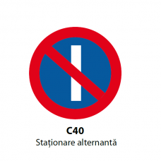 Staţionare alternantă — Indicator rutier