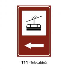 Telecabină — Indicator rutier