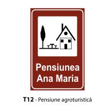 Pensiune agroturistică — Indicator rutier